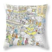 'stockopolis' Throw Pillow