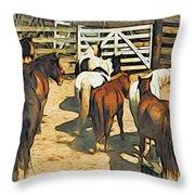 Stockyard Throw Pillow