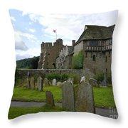 Stokesay Castle 2 Throw Pillow