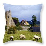 Stokesay Castle Throw Pillow