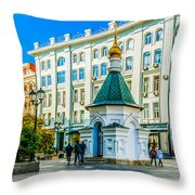 Stoleshnikov Lane Throw Pillow
