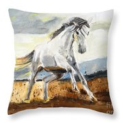 Stomping Ground Throw Pillow by Judy Kay