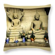 Stone And Flowers Throw Pillow