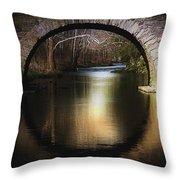 Stone Arch Bridge - Brick Texture Throw Pillow