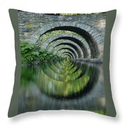 Stone Arch Bridge Over Troubled Waters - 1st Place Winner Faa Optical Illusions 2-26-2012 Throw Pillow