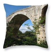 Stone Arch Of Pont St. Julien Throw Pillow