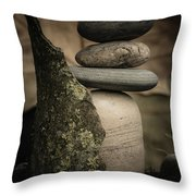Stone Cairns IIi Throw Pillow
