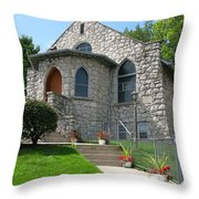 Stone Church Throw Pillow