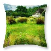 Stone Crop Garden Throw Pillow