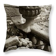 Stone Embellishments Of Jesuits Church Throw Pillow