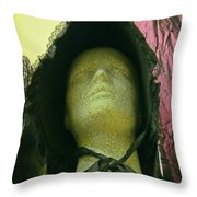 Stone Face Throw Pillow