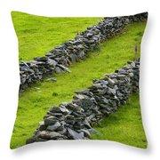 Stone Fences In Ireland Throw Pillow