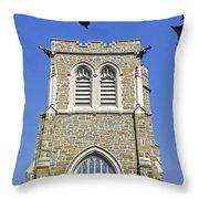 Stone Gothic Church Throw Pillow