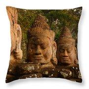 Stone Heads Throw Pillow