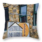 Stone House Pizza Throw Pillow