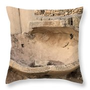 Stone Jar At Temple Of Apollo Throw Pillow