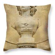 Stone Lady Throw Pillow