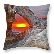 Stone Lagoon Sunset Throw Pillow