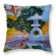 Stone Lantern Throw Pillow