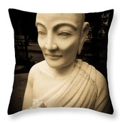 Stone Monk Throw Pillow