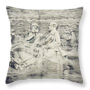 Stone Mountain Georgia Confederate Carving Throw Pillow