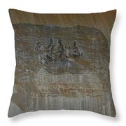 Stone Mountain Mural In Brown Throw Pillow