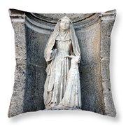 Stone Nun Throw Pillow