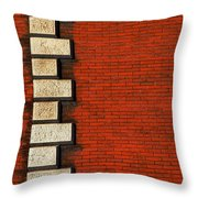 Stone On Brick Throw Pillow
