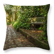 Stone Path Through A Forest Throw Pillow by Jess Kraft
