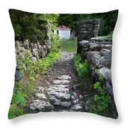 Stone Pathway Throw Pillow