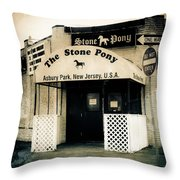 Stone Pony Throw Pillow by Colleen Kammerer