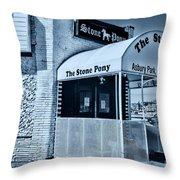 Stone Pony Cool Blue Throw Pillow