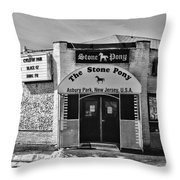 Stone Pony In Black And White Throw Pillow