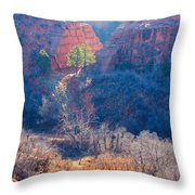 Stone Quarry At Red Rocks Open Space Throw Pillow