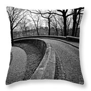 Stone Road And Path Throw Pillow