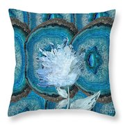Stone Rose Throw Pillow