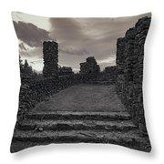 Stone Ruins At Old Liberty Park - Spokane Washington Throw Pillow by Daniel Hagerman