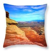 Stone - Sky - Colour Throw Pillow