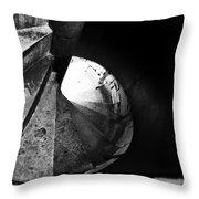 Stone Spiral Staircase Throw Pillow