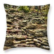 Stone Spring At Woodward Park 1 Throw Pillow
