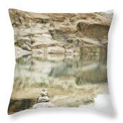 Stone Stack Pool Throw Pillow