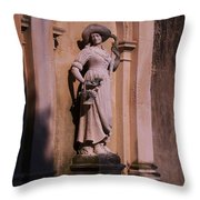 Stone Statue Woman  Throw Pillow