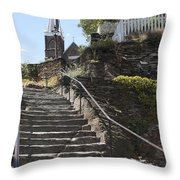 Stone Steps And Saint Peters Church At Harpers Ferry Throw Pillow