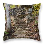 Stone Steps Throw Pillow