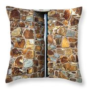 Stone Wall-small Window Throw Pillow