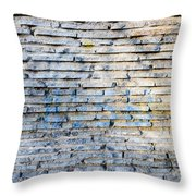 Stone Wall Texture Throw Pillow