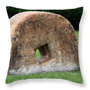 Stone Wheel Throw Pillow