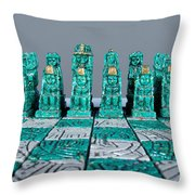 Stoned On Chess Throw Pillow