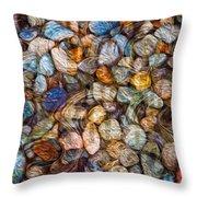 Stoned Stones Throw Pillow by Omaste Witkowski
