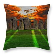 Stonehenge At Solstice Throw Pillow by Skye Ryan-Evans